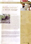 Article Relaxinésie & Stretch-massage
