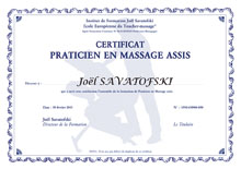 certificat praticien massage assis