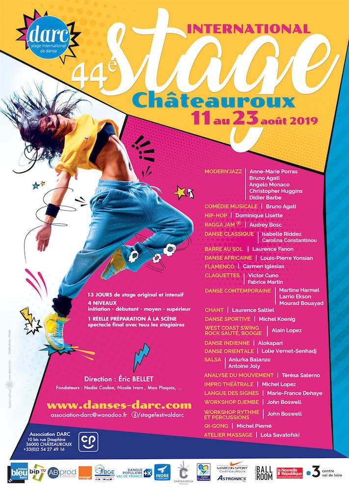 affiche Stage 2019 Chateauroux